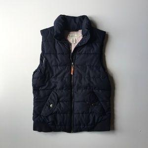 H&M Navy Puffer Zip Up Vest Size 4